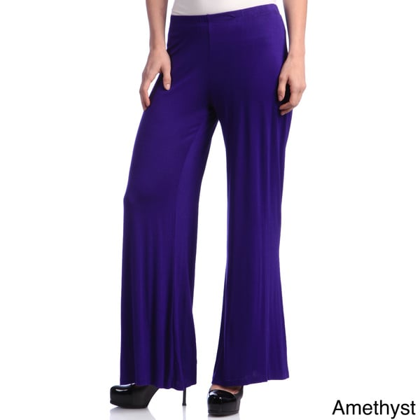 24/7 Comfort Apparel Women's Palazzo Wide-leg Pants