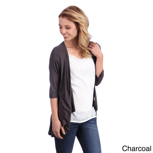 24/7 Comfort Apparel Women's 3/4-sleeve Open Shrug