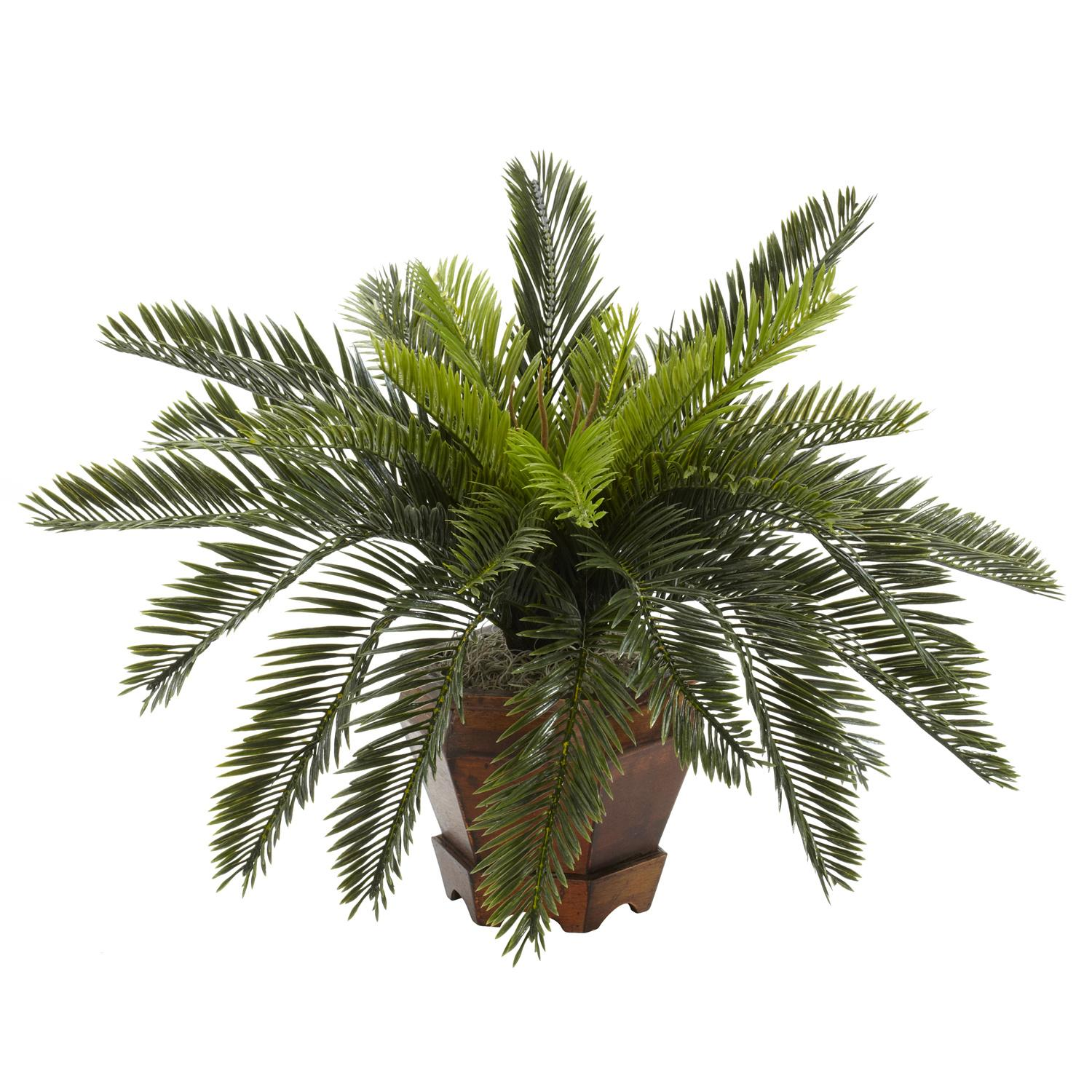 Silk 15-inch Potted Cycas Plant