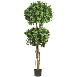 Eucalyptus Double Ball Topiary 5.5-foot Silk Tree