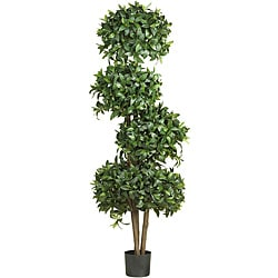 Sweet Bay Topiary 69-inch 4-ball Silk Tree