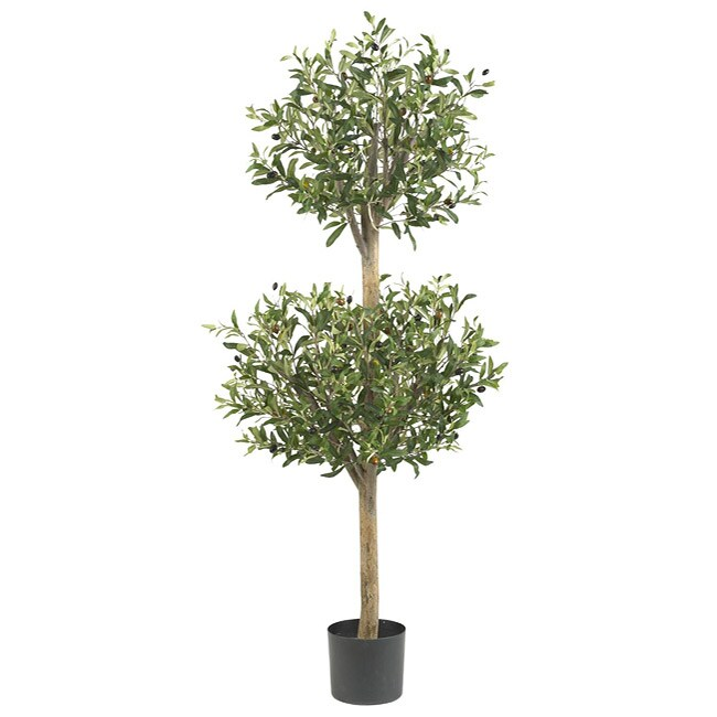 Double Silk 4.5-foot Olive Topiary