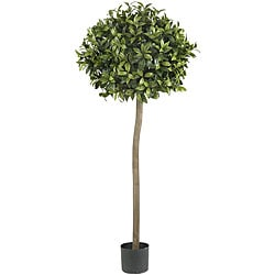 Five-foot Sweet Bay Ball Topiary Silk Tree