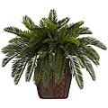 Silk Double Cycas Plant with Vase