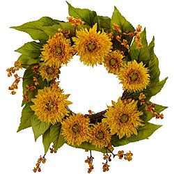 Golden Sunflower Wreath