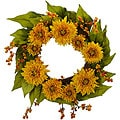 Golden Sunflower Wreath
