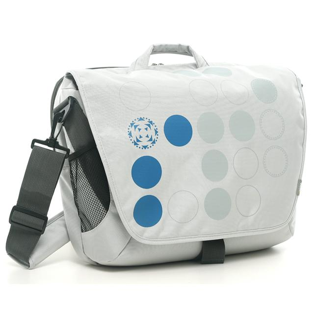 Ranipak Silver Graphic 16-inch Laptop Messenger Bag