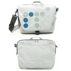 Ranipak Silver Graphic 16-inch Laptop Messenger Bag