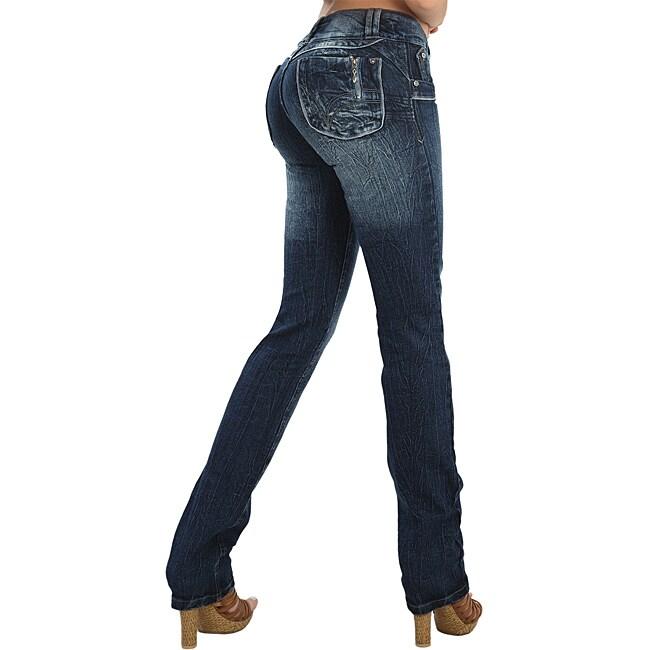 Virtual Sensuality Women's 'Arion' Dark Stretch Push Up Jeans