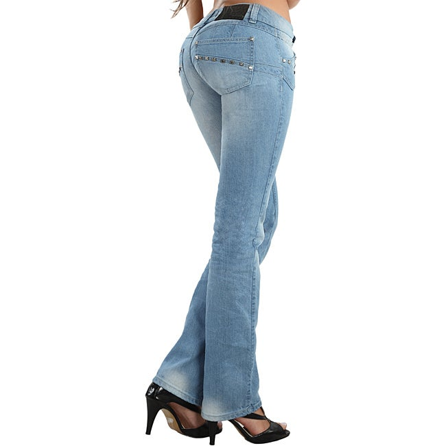Daysi Women's Boot-cut Stretch Push-up Jeans