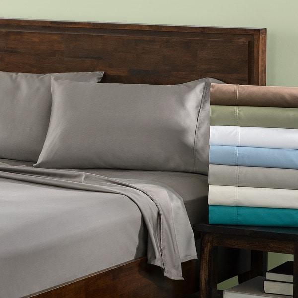 Luxor Treasures Cotton Blend 600 Thread Count Sateen Wrinkle-resistant Deep Pocket Sheet Set
