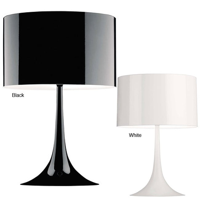 black white table lamp overstock shopping great deals on table. Black Bedroom Furniture Sets. Home Design Ideas