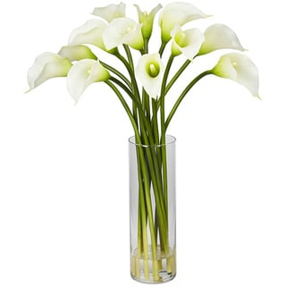 Silk 20-inch Mini Calla Lily Flower Arrangement