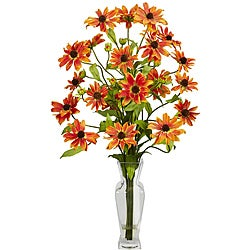 Silk 27-inch Cosmos Flower Arrangement