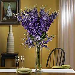 Silk 38-inch Delphinium Flower Arrangement