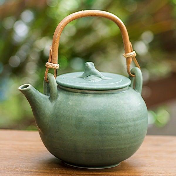 Ceramic 'Frog Song' Teapot (Indonesia)