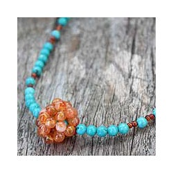 Carnelian 'Fusion' Beaded Necklace (Thailand)