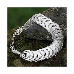 Sterling Silver 'Full Moon Magic' Bracelet (Indonesia)
