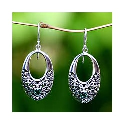 Sterling Silver 'Indonesia Glam' Dangle Earrings (Indonesia)