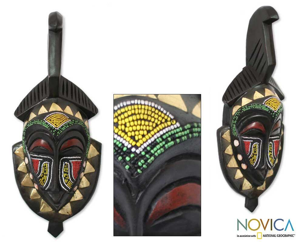 Handcrafted Wood 'Senufo Purification' African Mask (Ghana)