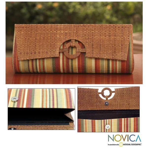 Buriti Palm 'Rainforest' Clutch Handbag (Brazil)