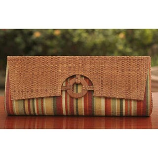 Buriti Palm 'Rainforest' Clutch Handbag (Brazil)