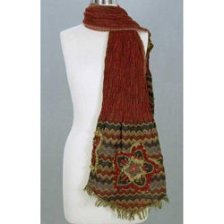 Wool 'Red Romance' Scarf (India)