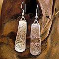 Sterling Silver 'Autumn Leaves' Drop Earrings (India)