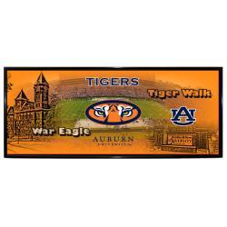 Auburn Tigers Mini Wall Hanging Panoramic Logo