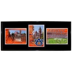 Auburn Tigers Metal Wall Hanging Framed Triple Shot Logo