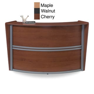 OFM Cherry Curved Reception Station