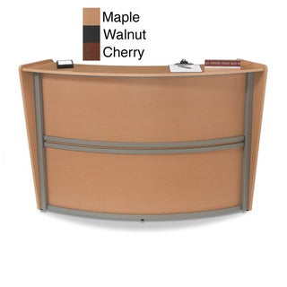 OFM Maple Single Unit Curved Reception Station