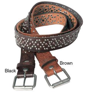 Journee Collection Women's Studded Leather Accent Belt