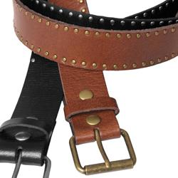 Journee Collection Women's Studded Buckled Accent Belt