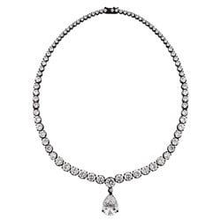 Kate Bissett Black Clear Cubic Zirconia Necklace