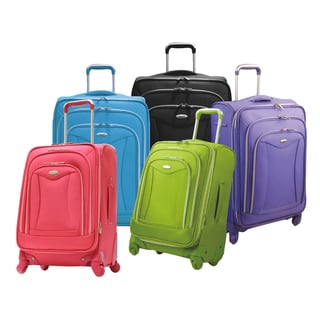 Olympia Luxe 21-inch Expandable Carry On Spinner Upright Suitcase