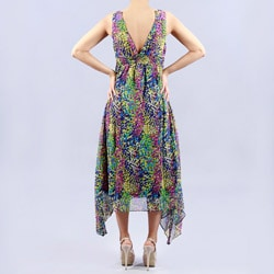 Madison Paige Chiffon Tea Length Dress