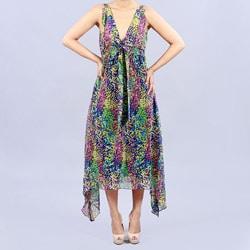 Madison Paige Chiffon Tea Length Dress