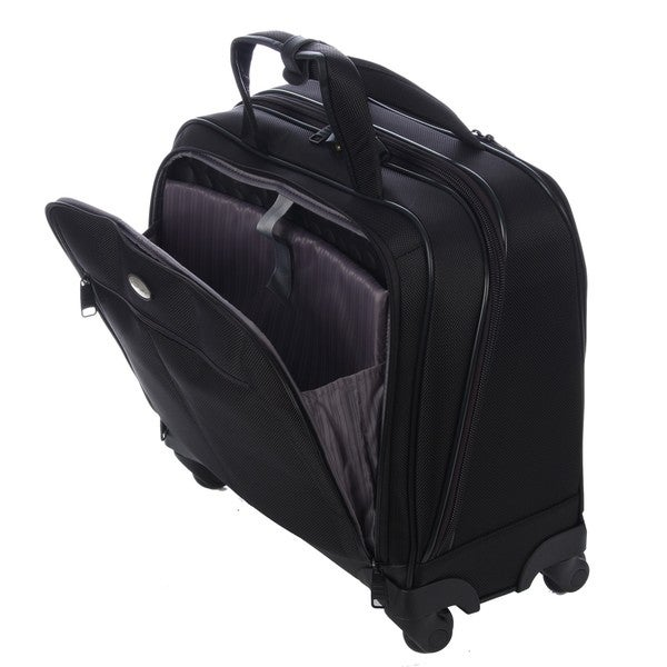 Samsonite black silhouette 11 spinner carry on tote bag free shipping today overstock com