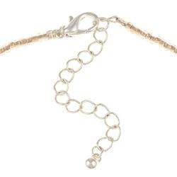 Alexa Starr Silvertone Rose Quartz, Shell and Glass Necklace