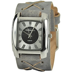 Nemesis Women's Charcoal Sunshine Leather Watch