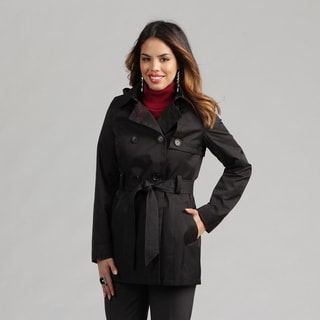Tommy Hilfiger Women's Belted Rain Trench Coat