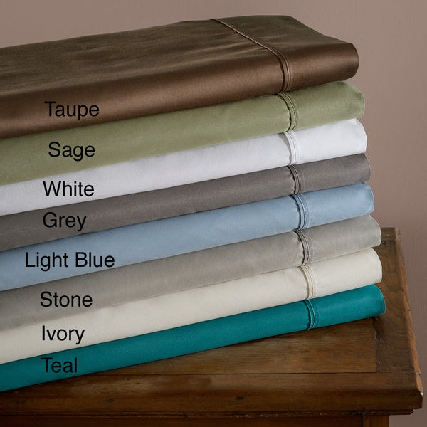Luxor Treasures Cotton Blend Sateen 600 Thread Count Split King Wrinkle-resistant Sheet Set