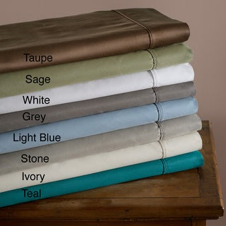 Sateen 600 Thread Count Cotton Blend Wrinkle-Resistance Pillowcases (Set of 2)