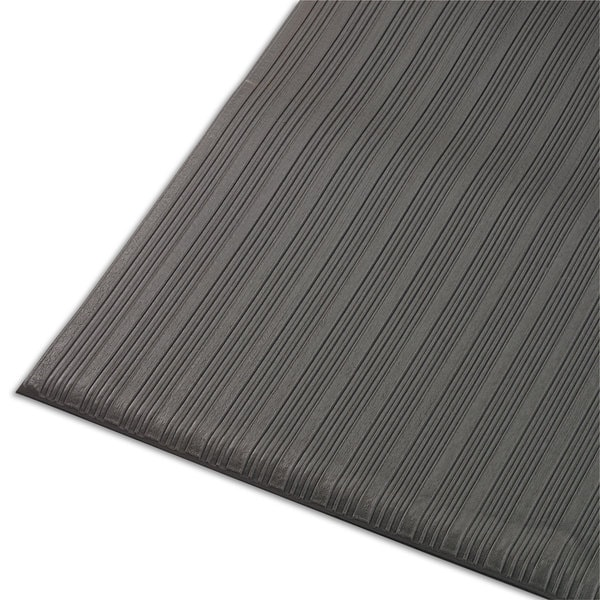 Crown Ribbed Antifatigue Mat-Vinyl- 36 x 120