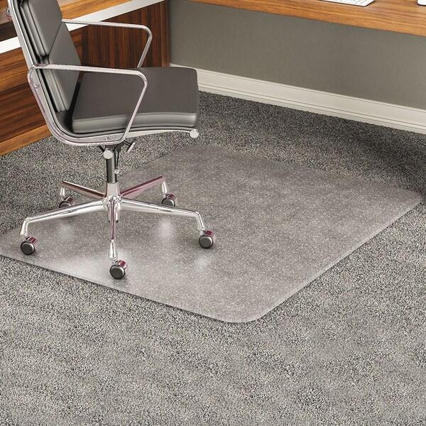 deflect-o ExecuMat Studded Beveled Chair Mat-