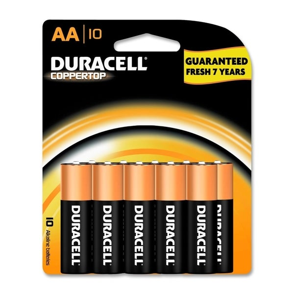Duracell Coppertop AA Alkaline Batteries (Pack of 10)