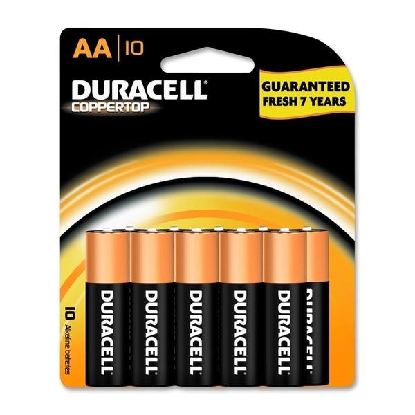 Duracell Coppertop AA Alkaline Batteries (Pack of 10)