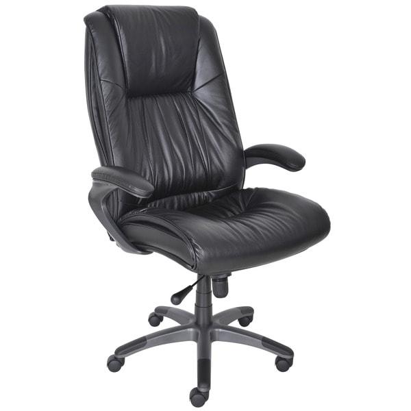 Mayline Black Leather High-Back Swivel/Tilt Executive Office Chair