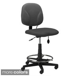 Mayline Adjustable-Height Swivel Task Stool